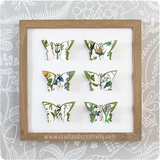 3D paper butterflies - by Craft & Creativity