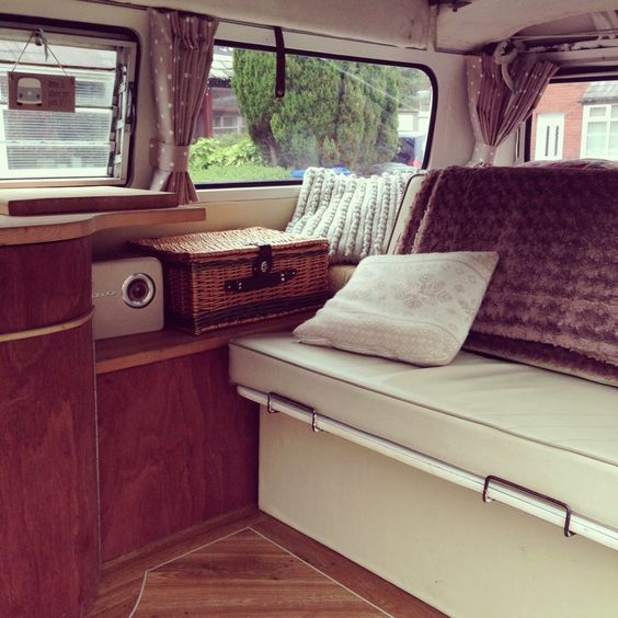 Our 1979 Devon Bay 'Daisy' finally has her new curtains up:)   Van ...