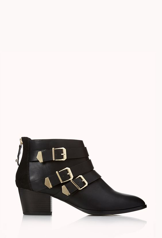 Buckled Booties / $39.80 (A perfect knock off of the Loeffler Randall Fenton Leather Buckle Ankle Boots with a savings of $410!)