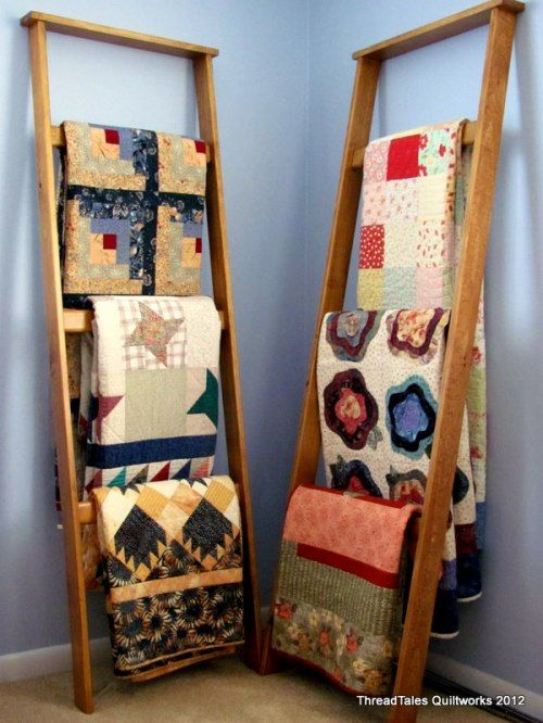 Great idea for displaying quilts
