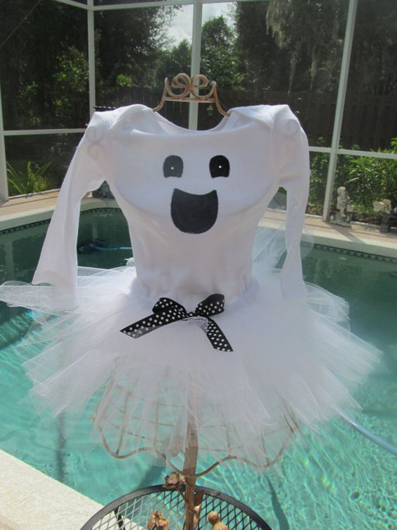 Ghost Shirt and Tutu Halloween Costume by Sugarlips26 on Etsy, $39.99: