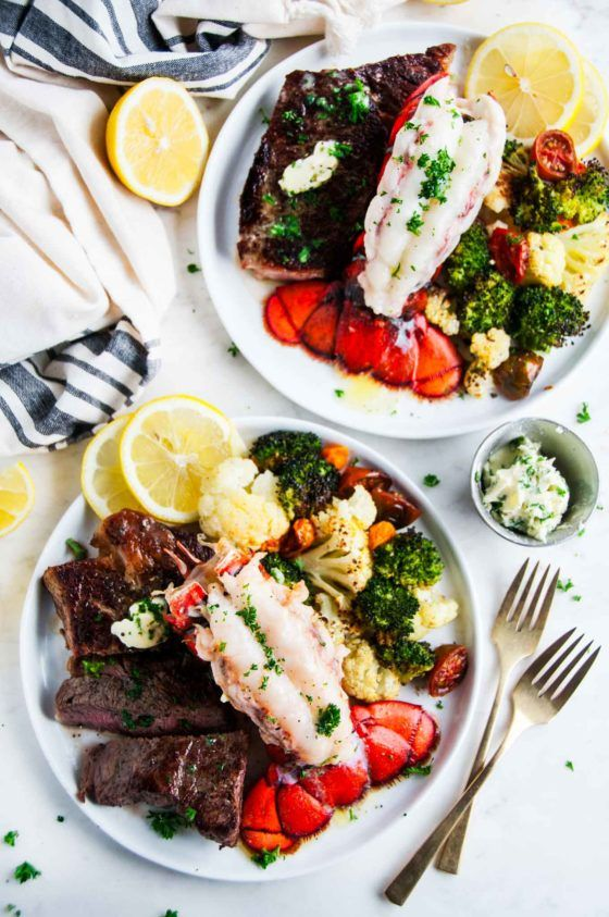 Surf And Turf Steak And Lobster Tail For Two Aberdeen S Kitchen Recipe Steak And Lobster Dinner Lobster Dinner Steak And Lobster