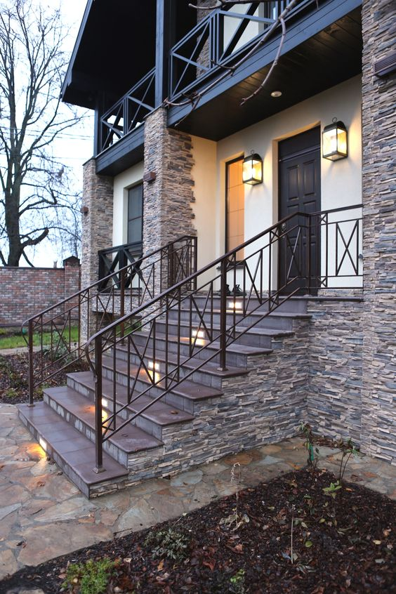 Best Wrought Iron Handrail Iron Handrails And Outside Steps On 400 x 300