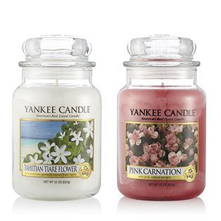 Yankee Candle Set of 2 USA Special Floral Pink Carnation Large ...