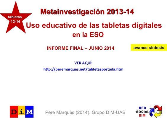 Uso educativo de las tabletas digitales en la Enseñanza Secundaria Ob…