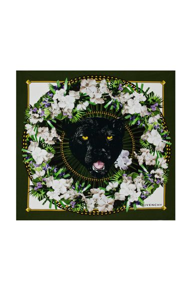 i cannot live another day of my life without this panther scarf by givenchy