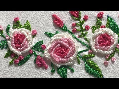غرزة الركوكو تطريز يدوي Hand Embroidery Rococo Stitch تطريز برازيلي Brazil Embroidery S Youtube Embroidery Book Embroidery Designs Brazilian Embroidery