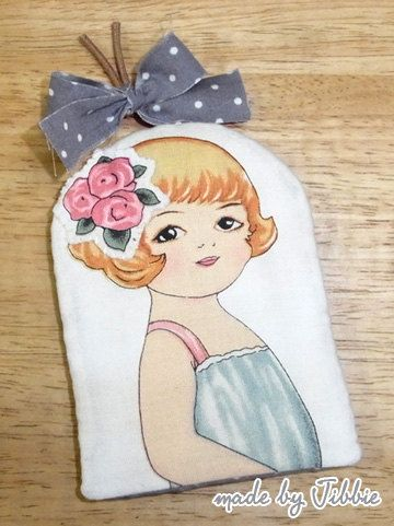 Paper Doll Vintage Key Cover by JibbieStudio on Etsy