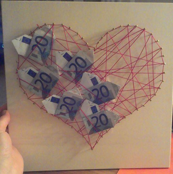 Wedding Gift String Art : ... , Hochzeit, Pr?sent, wedding gift, heart, money, string art