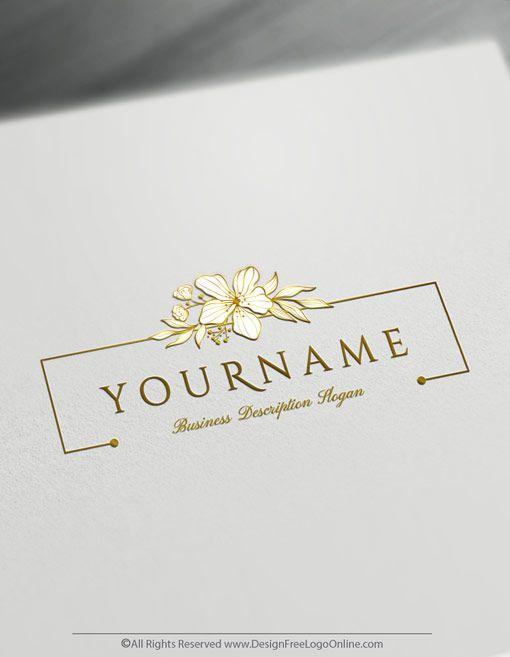 Create A Vintage Logo Free Floral Design Logo Templates In 2020 Floral Logo Design Logo Design Free Jewelry Logo Design