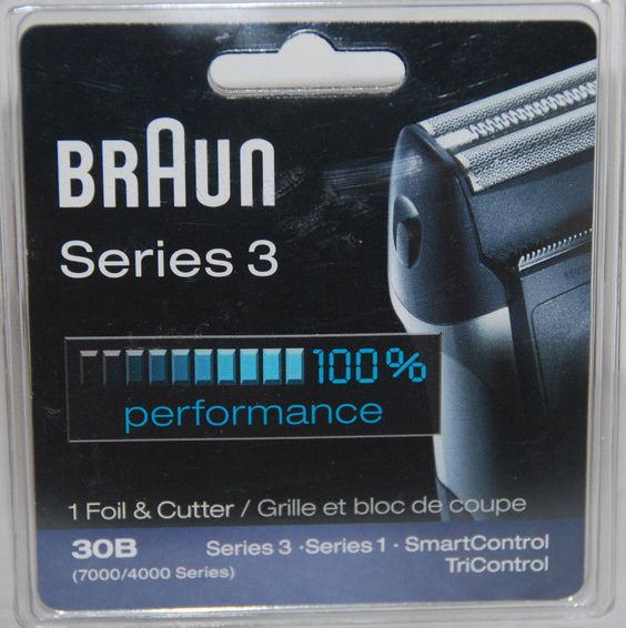 30B. Braun Series 3 Replacement Foil And Cutter Brand New. 7000//4000series