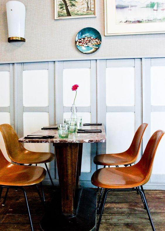 Eames Side Chairs at Restaurant Ø, Berlin Kreuzberg