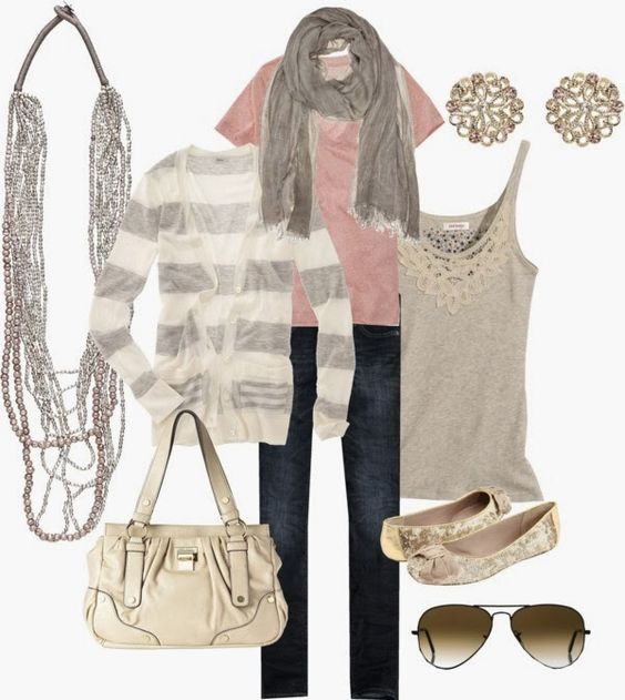 Spring Outfit: Pink Gray, Dream Closet, Cute Outfits, Pink Grey, Spring Outfit, Women, Pink And Gray