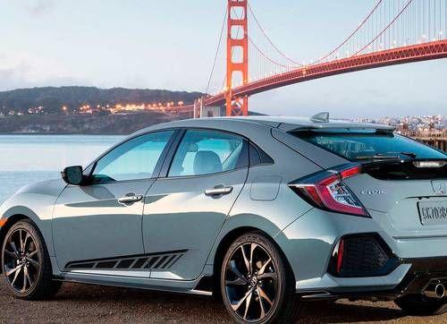 Honda Civic 2017 Side Stripe Decal Graphics Racing Flag
