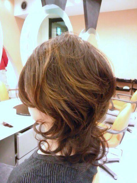40代 50代 60代ヘアスタイル ハイライトカラー 艶髪コーティング