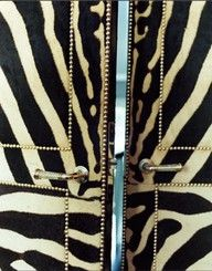 If you get zebra print doors for your room then what you should do next is have a party.
