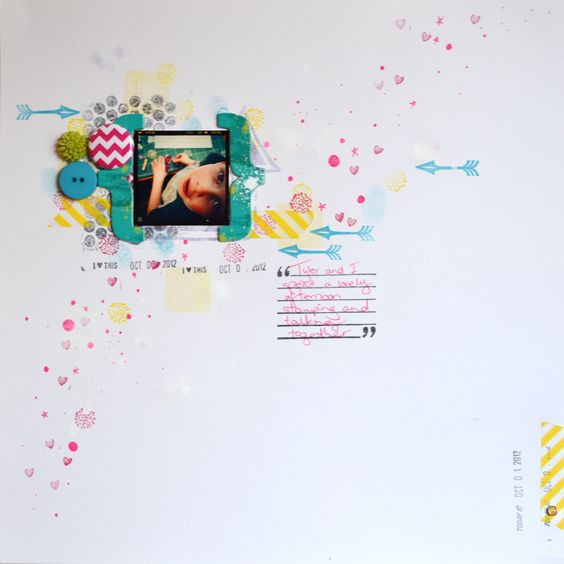 Stamping with mum by Leonie Waldron