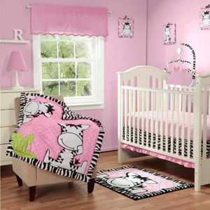 Baby Boom I Luv Zebra 3pc Crib Bedding Set, Pink - I'm in love with this for a little girl!