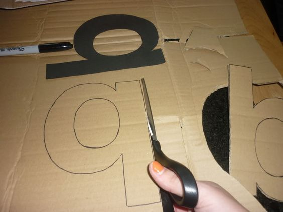 My Type Of Decor Diy 3d Letters The Journey Cardboard