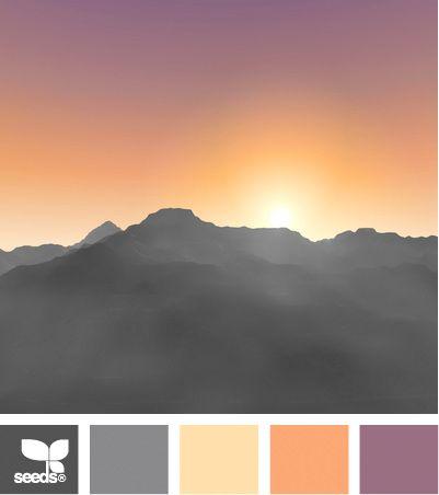 Sonnenuntergang-Farben