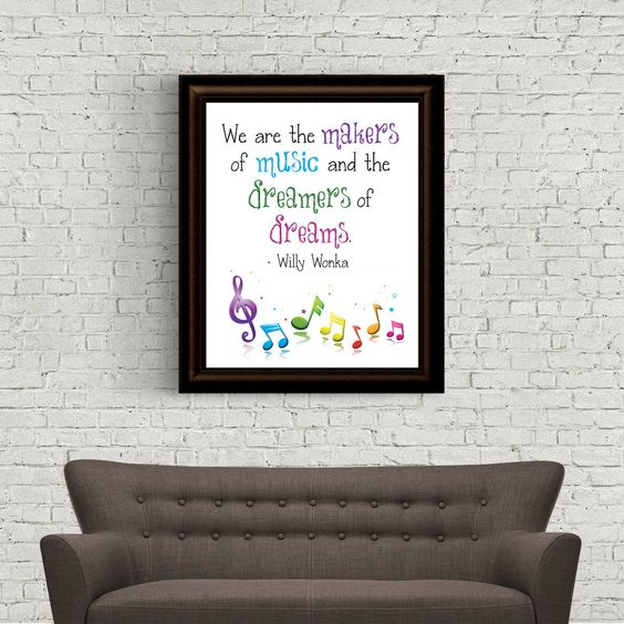 We are the Makes of Music and the Dreamers of Dreams - Willy Wonka - Digital Art - Instant Download by Analiese on Etsy