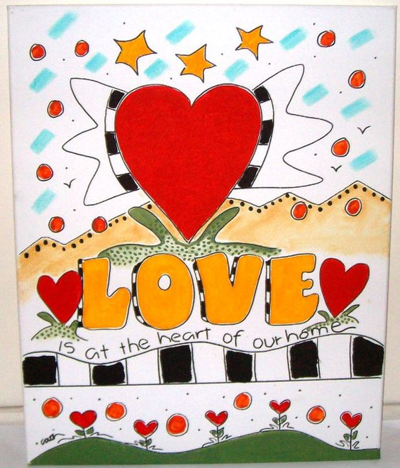Love and Home by HumanTuneUp on Etsy
