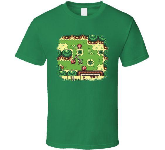 The Legend of Zelda Link's Awakening Game Retro Throwback Geek T shirt