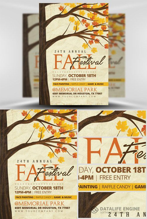 Fall Festival Flyer Template Template Pinterest Carnival ideas - fall flyer
