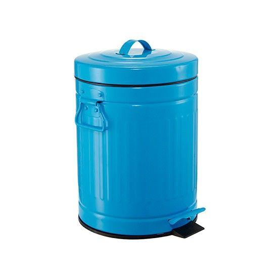 lixeira retro azul