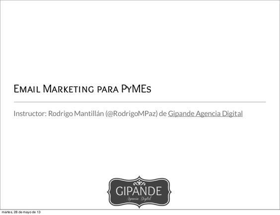 Taller Email Marketing para Pymes