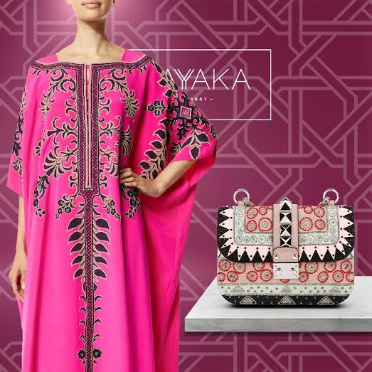 Valentino Beaded Geometric Patch Multicolored Shoulder Bag | Size Small | Spring-Summer 2016 Collection | Available NowCarolina Herrera Embroidered Hot Pink Caftan Gown | Spring-Summer 2016 Collection | Available Now Don't forget to contact to us for all your pre-Ramadan fashion purchases For purchase inquiries, please contact sales@shayyaka.com or +961 71 594 777 (SMS, WhatsApp, or iMessage) or Direct Message on Instagram (@Shayyaka). Guaranteed 100% Authentic | Worldwide Shipping |
