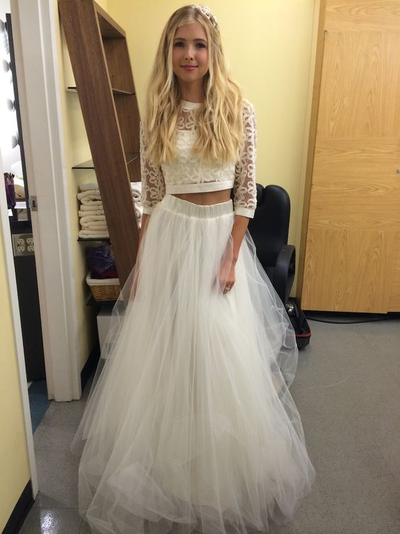 I am so obsessed with crop top wedding dresses omg.