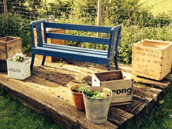 Old chair bench timeworninteriors.co.uk