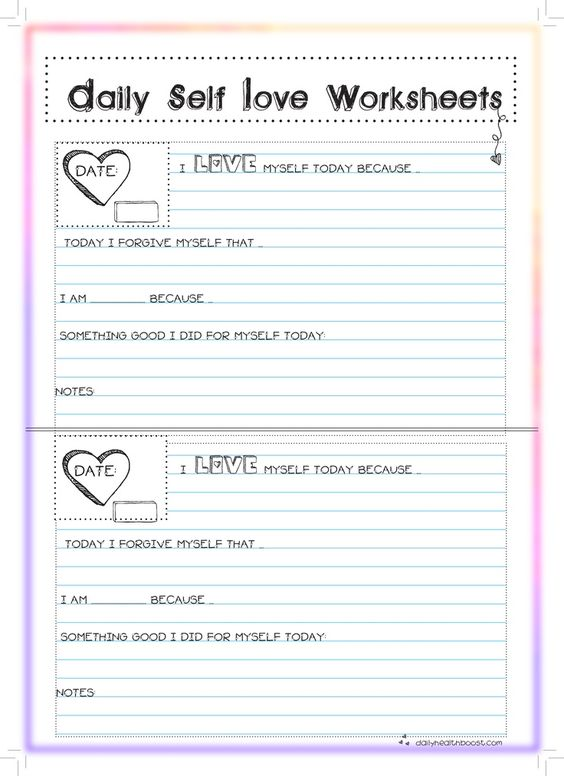 Self-Esteem Resources And CBT Worksheets | Psychology Tools