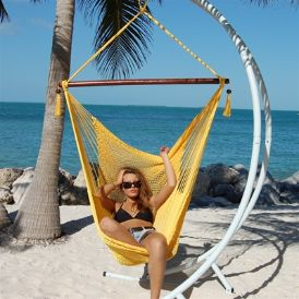 Relax in a hammock chair in your backyard this summer! #hammockchair