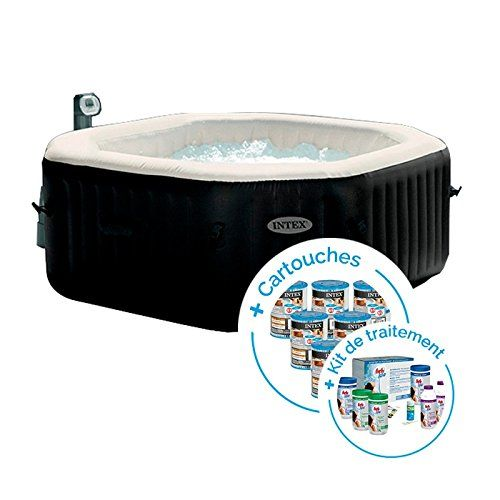 Intex Spa Gonflable Pure Spa Jets Et Bulles 6 Places 12 Cartouches Kit De Traitement Au Brome Spa Gonflable Spa Gonflable Intex Spa Intex