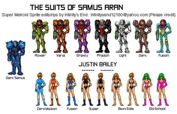 Samus Fusion Suit Sprites Metroid Series - Samus...
