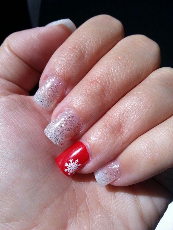 Mis uñas navideñas