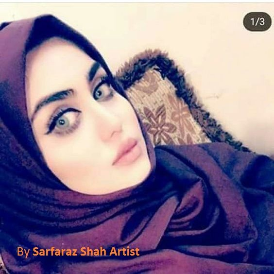 Wide Eyes By Sarfaraz Shah Artist Beautiful Muslim Women Iranian Girl Women Wearing Ties