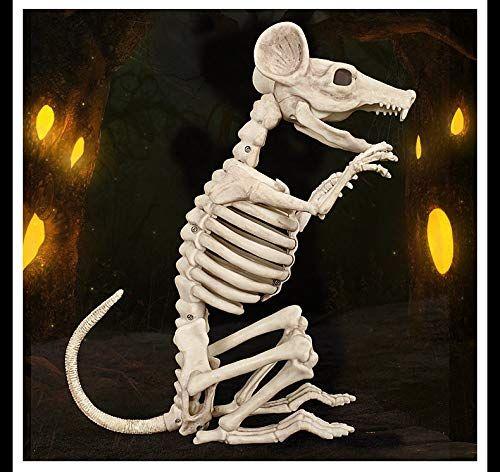Savestore High Qualtity Skeleton Rat Mouse 100 Plastic Animal Skeleton Bones For Horror Halloween Decoration Animal Skeletons Plastic Animals Animals