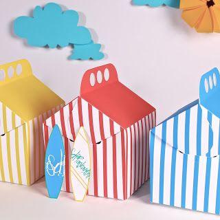 Cajitas de regalo para una fiesta surf / Party favour boxes for a surf party