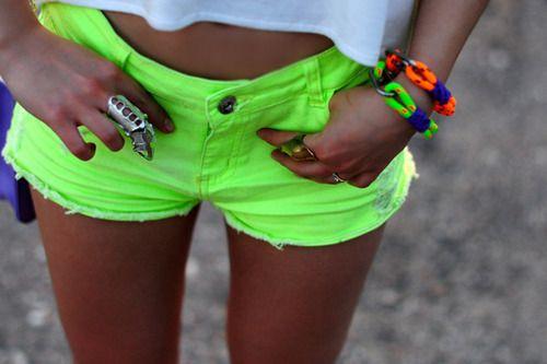 neon green shorts!