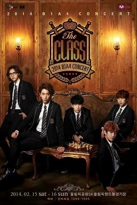 """B1A4's upcoming concert""""THE CLASS"""""""