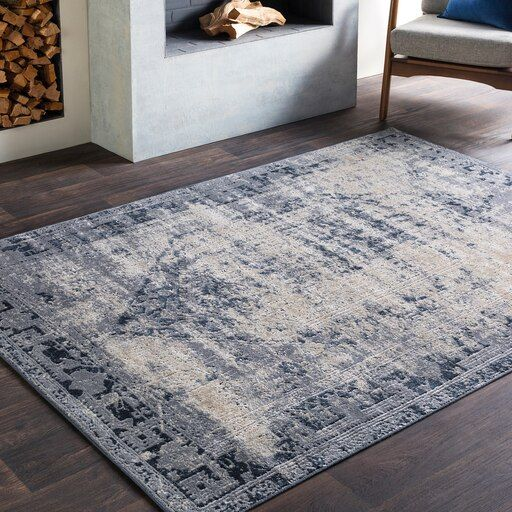 Cattaraugus 7 10 X 10 3 Rectangle Medium Gray Area Rug Beige