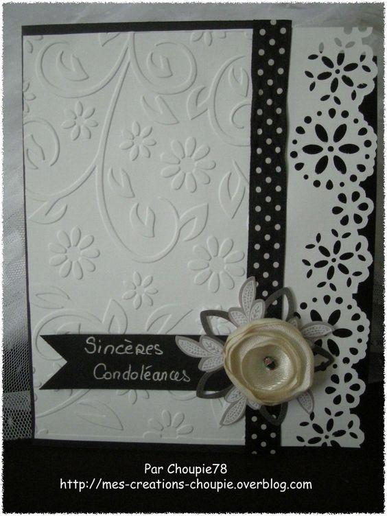 Carte condoléances - Simpathy card