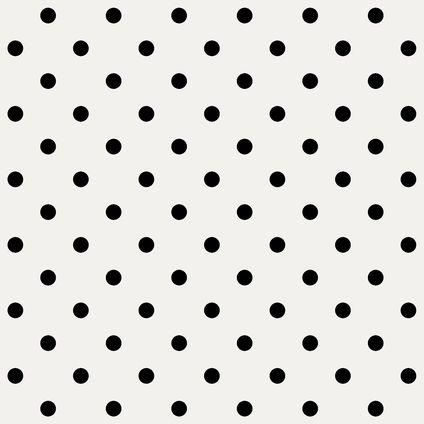 Vliesbehang wit met zwarte stippen | Praxis