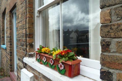 Banks Place, spring window boxes, Lakes Cottage Holdiays