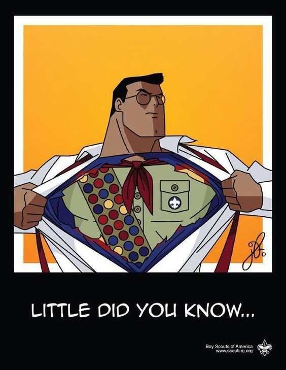 Superman is a boy scout