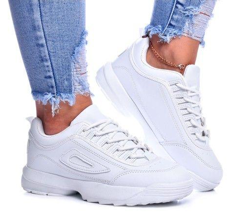 Buty Damskie Adidasy Sneakersy Styl Fia Biale 36 Air Max Sneakers Sneakers Nike Nike Air