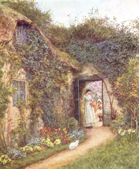 The Dairy, Farringford - Helen Allingham